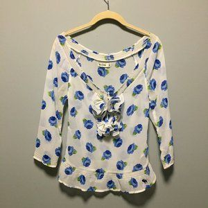 Abercrombie Kids XL Fits Women's Small Floral Top